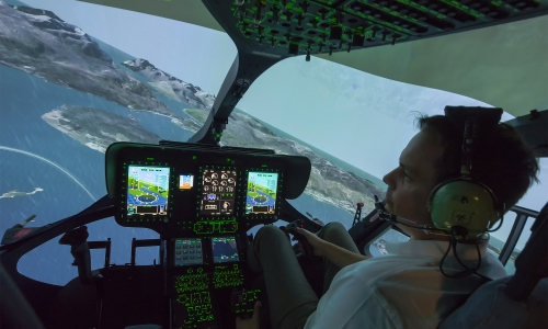 NCCH FFS Cockpit Rain